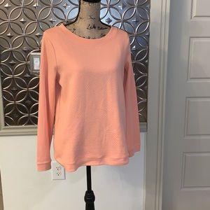Talbots Women's Peach Quilted Sweater - Medium